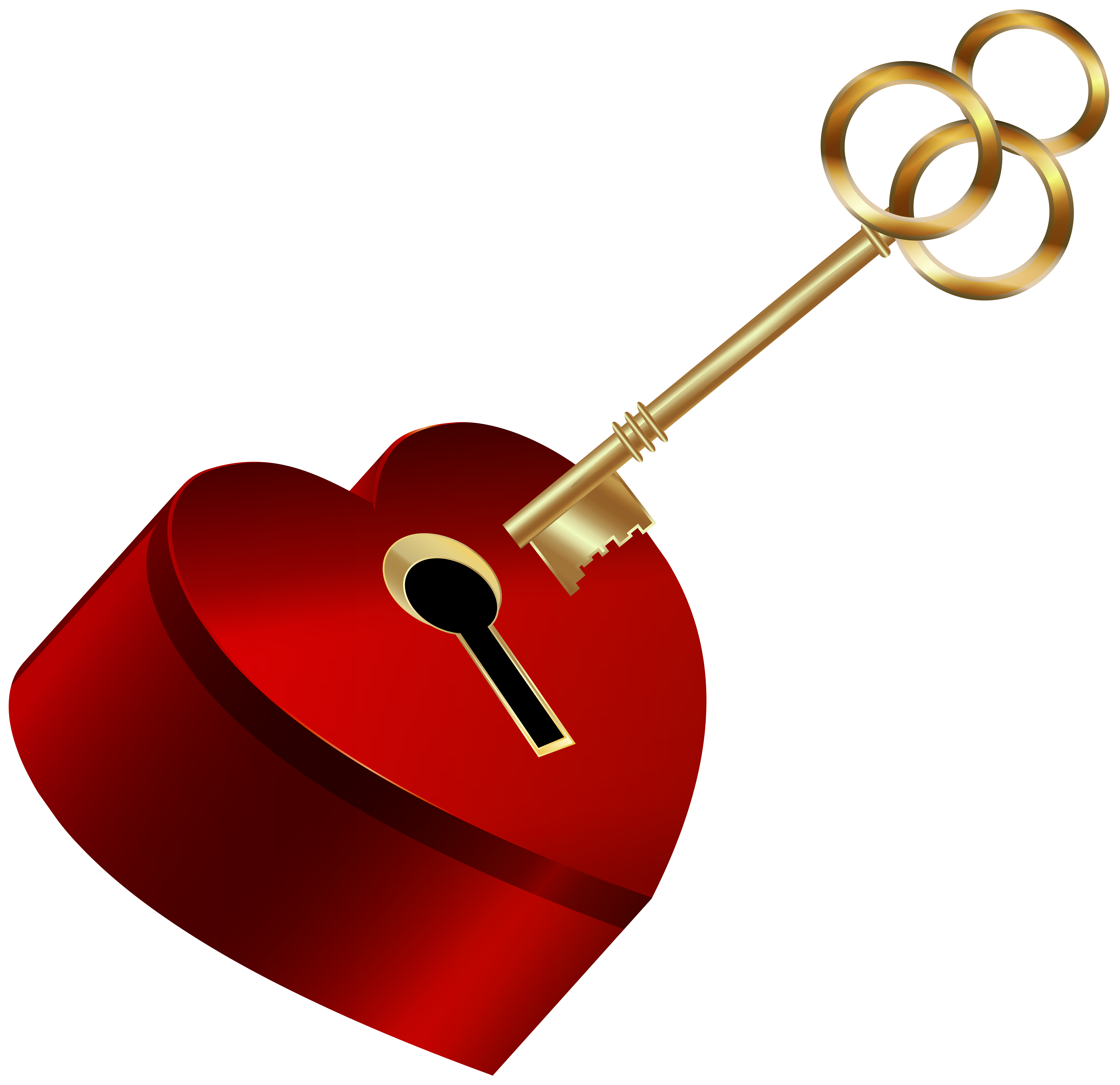 Key heart clipart graphic transparent Heart with Key PNG Clip Art Image | Gallery Yopriceville - High ... graphic transparent