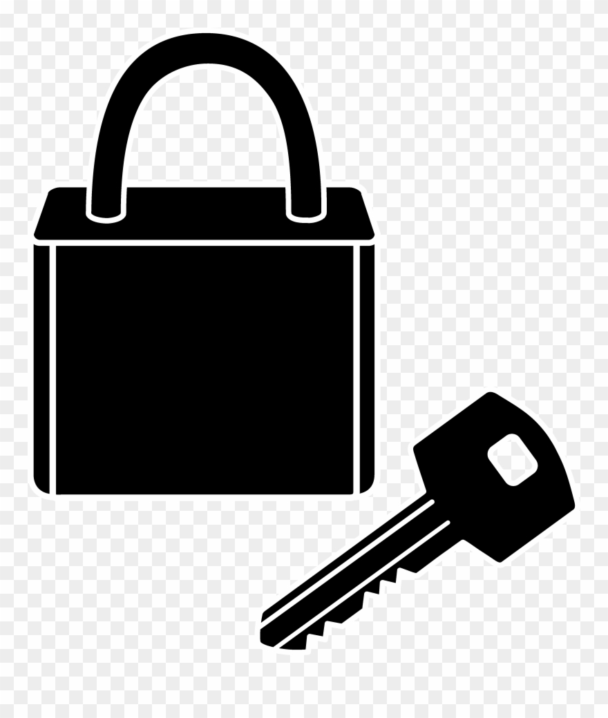 Key in lock clipart image black and white stock Keys And Locks Transparent Images Plus Lock Key - Clipart Lock And ... image black and white stock