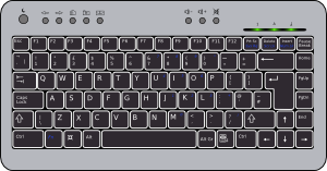 Keyboard computer clipart graphic library download Compact Computer Keyboard Clip Art at Clker.com - vector clip art ... graphic library download