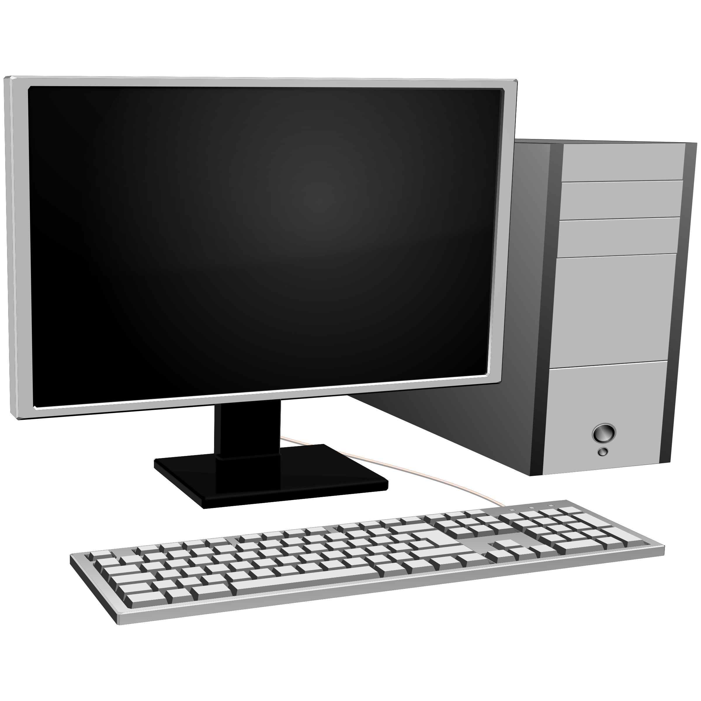 Keyboard computer clipart image black and white Clipart - Computer image black and white