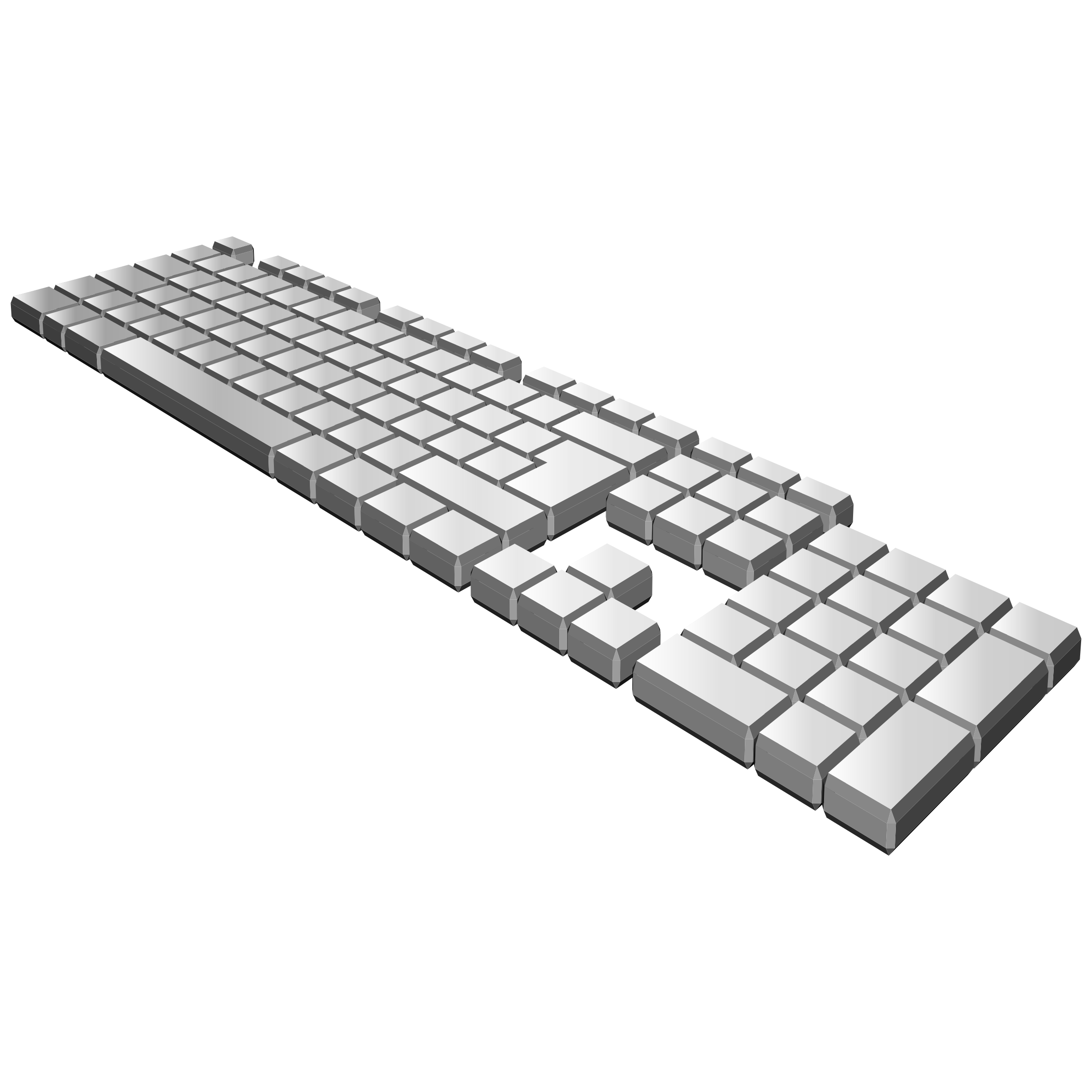 Keyboard of a computer clipart vector stock Clipart - keyboard perspective vector stock