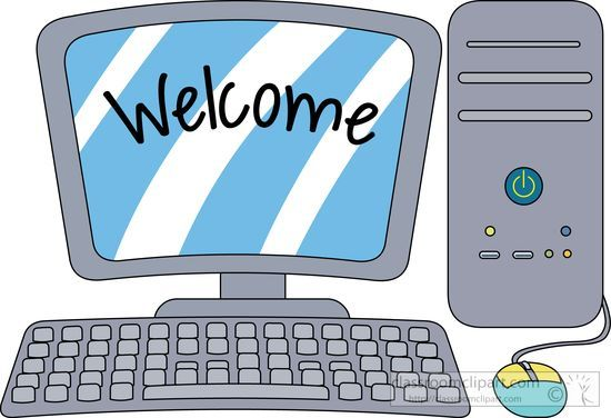 Keyboarding class clipart clip freeuse stock Computers Clipart- desktop-computer-with-welcome-on-the-screen ... clip freeuse stock