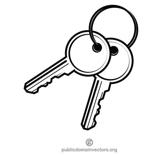 Keys clipart free library Apartment keys | Public domain vectors free library