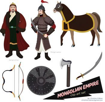 Khan clipart graphic free library Mongolian Empire Clip Art Set | Mongolian Empire | Marco polo ... graphic free library
