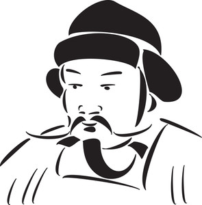Khan clipart svg royalty free library Genghis Khan Drawing | Free download best Genghis Khan Drawing on ... svg royalty free library