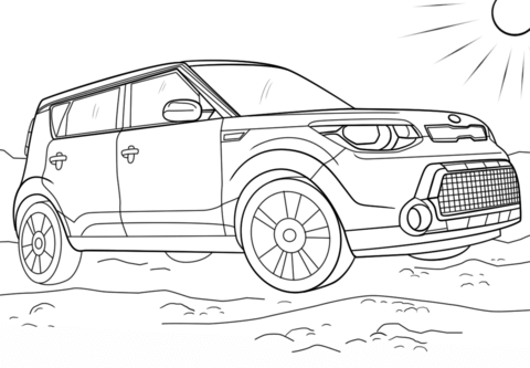 Kia soul clipart clipart royalty free download Kia Soul coloring page | Free Printable Coloring Pages clipart royalty free download