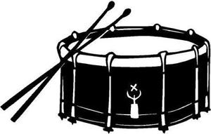 Kick drum clipart black and white graphic black and white download Free Snare Drum Cliparts, Download Free Clip Art, Free Clip Art on ... graphic black and white download