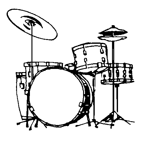 Kick drum clipart black and white clipart library library Drums Clipart Black And White | Free download best Drums Clipart ... clipart library library