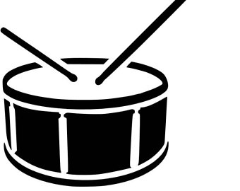 Kick drum clipart black and white png royalty free download Drums Clipart Black And White | Free download best Drums Clipart ... png royalty free download