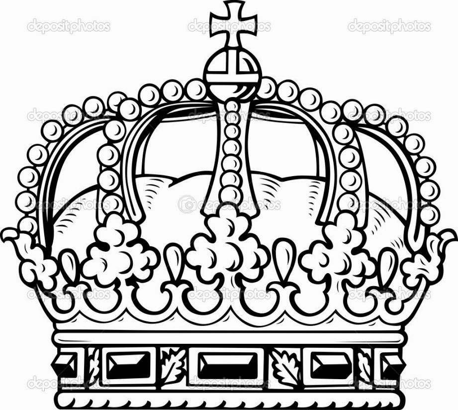 Kick him in his crown jewels clipart png black and white library King Crown Coloring Page | Coloring Pages | King crown drawing ... png black and white library
