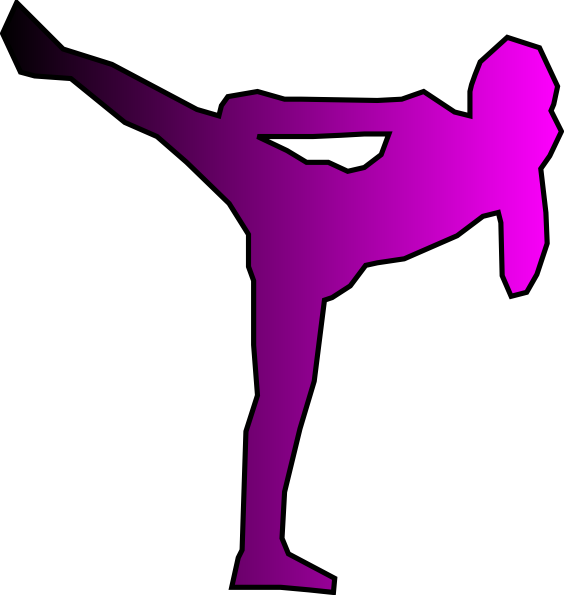 Kickboxer clipart clip art royalty free Pink Kickboxer Clip Art at Clker.com - vector clip art online ... clip art royalty free