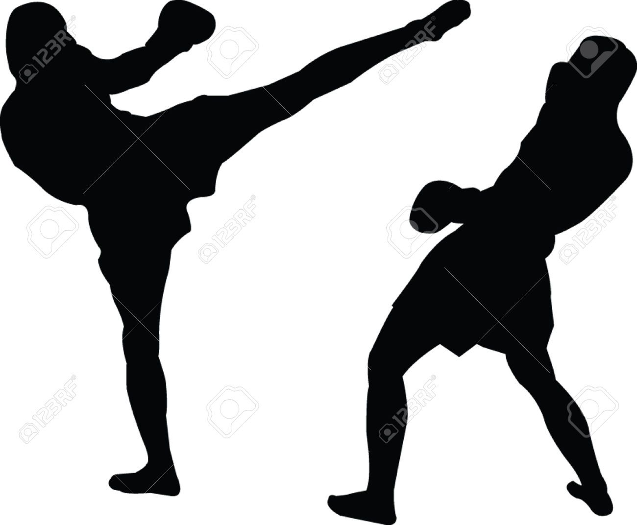 Kickboxer clipart png royalty free download Stock Vector in 2019 | Kickboxing | Silhouette, Silhouette vector ... png royalty free download