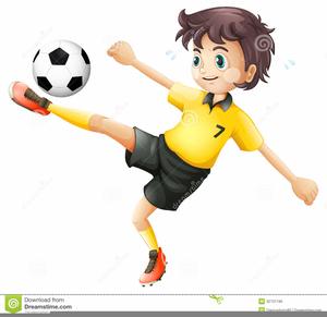 Kicking ball clipart vector Clipart Footballer Kicking Ball | Free Images at Clker.com - vector ... vector