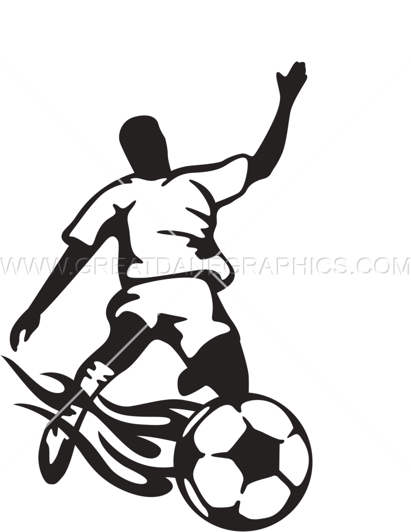 Kicking football clipart png black and white download Soccer Playing Kicking | Production Ready Artwork for T-Shirt Printing png black and white download