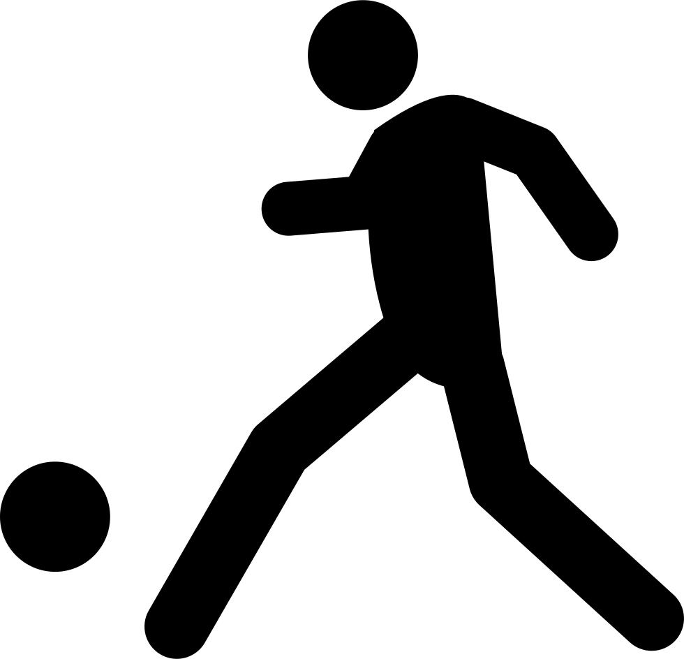 Kicking football clipart banner library download Football Player Kicking Ball Svg Png Icon Free Download (#22347 ... banner library download