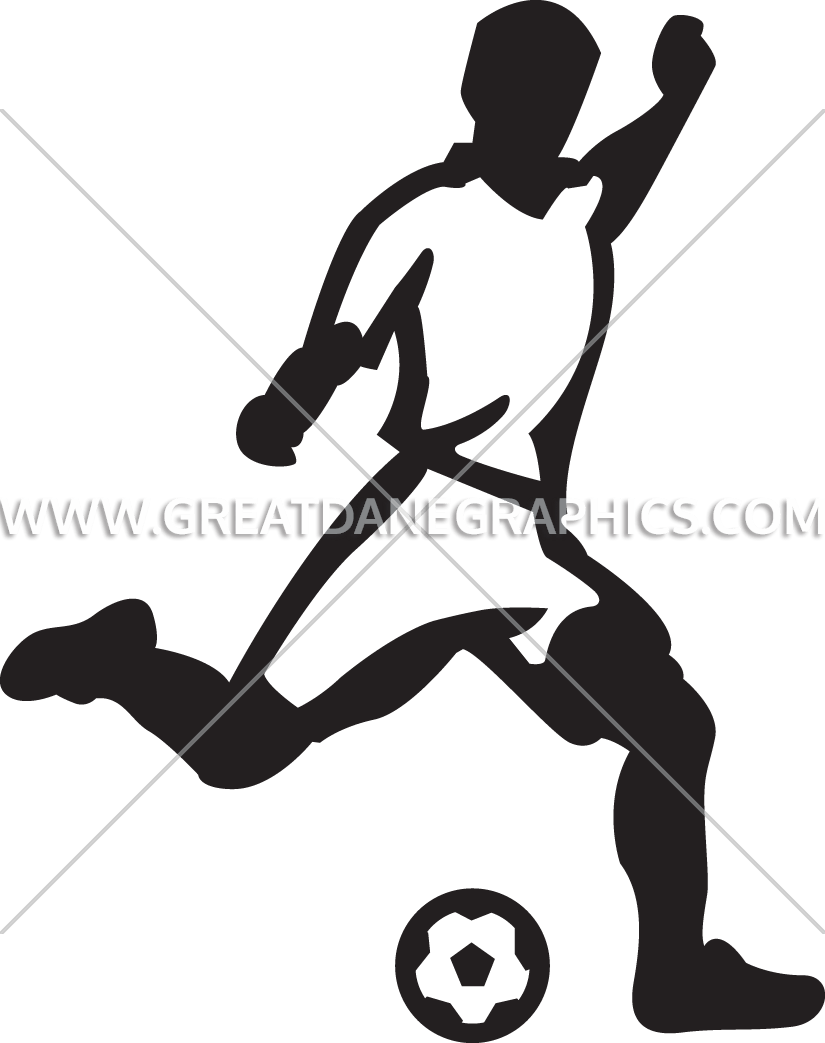 Kicking football clipart picture free library Soccer Player Kicking Ball | Production Ready Artwork for T-Shirt ... picture free library
