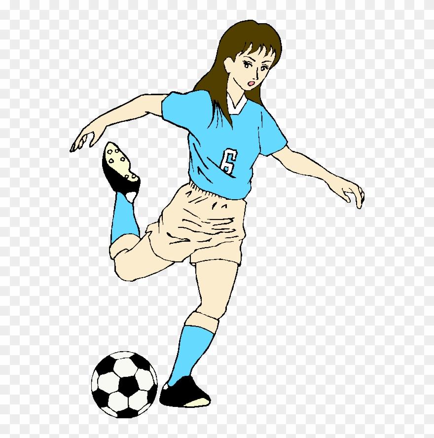 Kicking soccer ball clipart clip art transparent download Soccer Clip Art - Girl Kicking A Soccer Ball - Png Download ... clip art transparent download