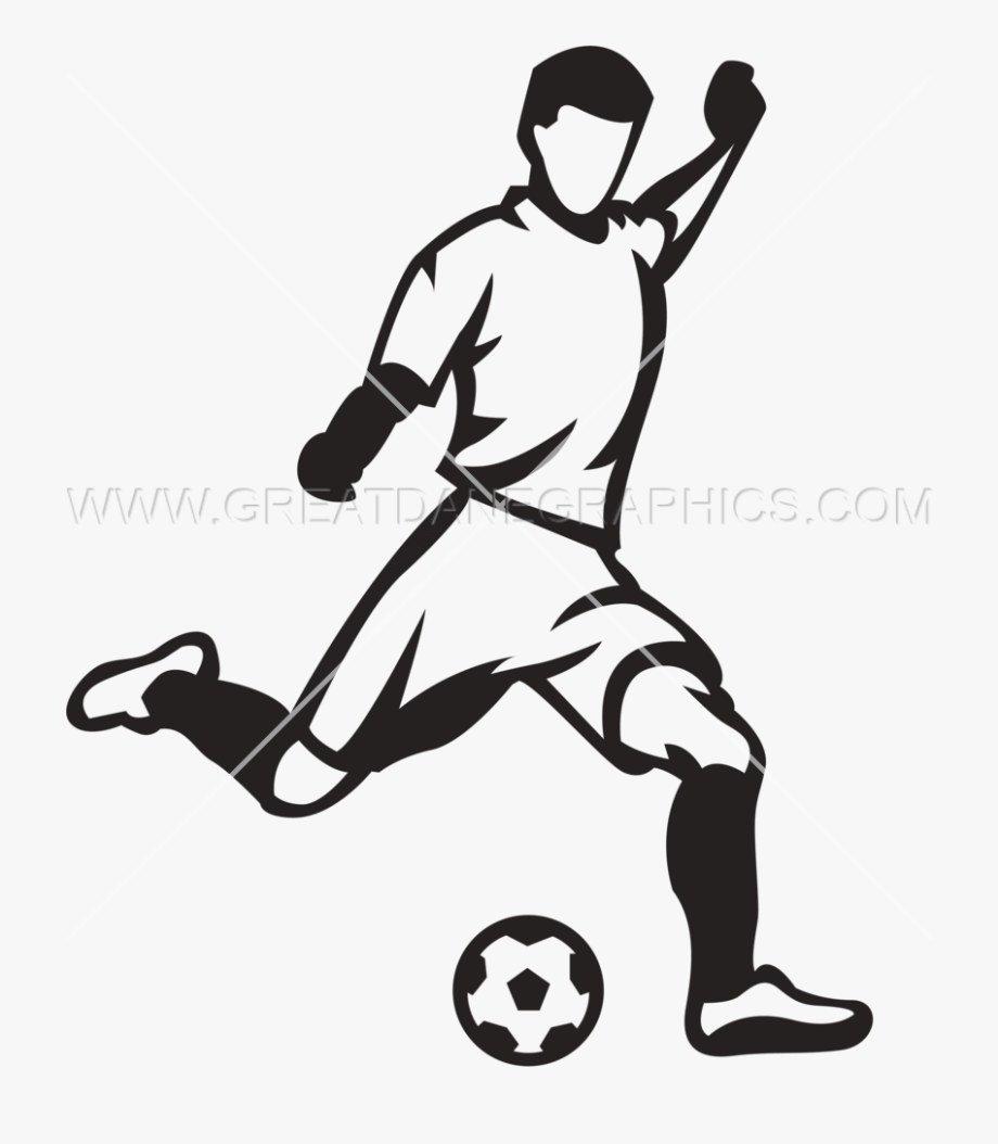 Soccer ball player clipart jpg freeuse library Soccer Player Kicking Ball - Kicking A Soccer Ball Drawing #1731 ... jpg freeuse library
