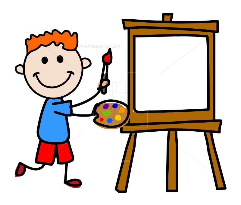 Kid artist clipart freeuse Artist kid   Free vectors, illustrations, graphics, clipart, PNG downloads  ... freeuse