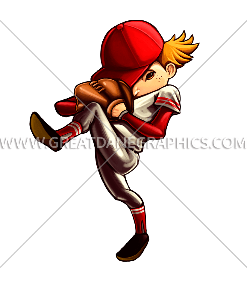 Kid baseball pitcher clipart image free download Kid Pitcher | Production Ready Artwork for T-Shirt Printing image free download