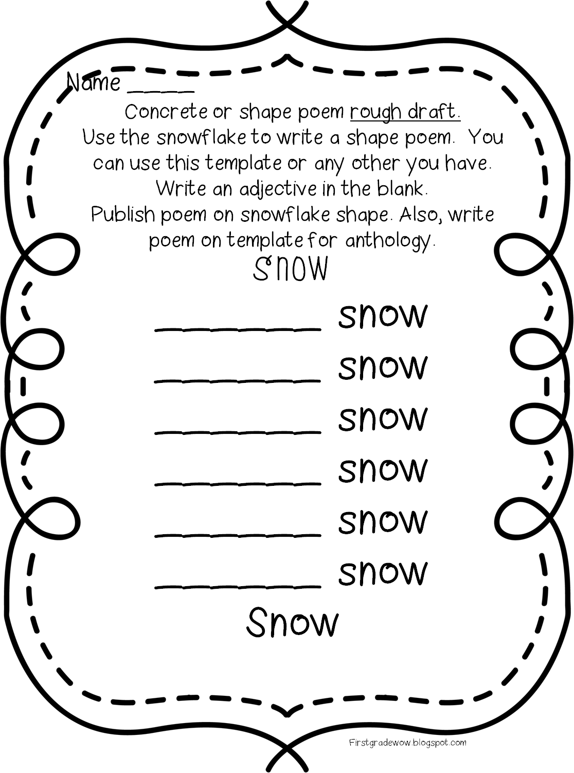 Kid catching snowflake on tongue clipart black and white clipart royalty free stock Poetry Unit Updated! | First Grade Wow | Bloglovin' clipart royalty free stock