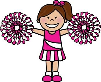 Kid cheerleader clipart image stock Cheerleader Clip Art & Worksheets | Teachers Pay Teachers image stock