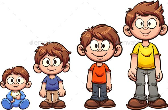 Kid clipart seperate freeuse download Cartoon boy growing up. Vector clip art illustration with simple ... freeuse download