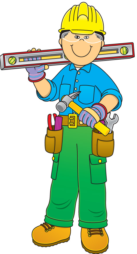 Kid construction worker clipart clip art transparent library Letter Templates | darbam. | Construction theme, Community helpers ... clip art transparent library