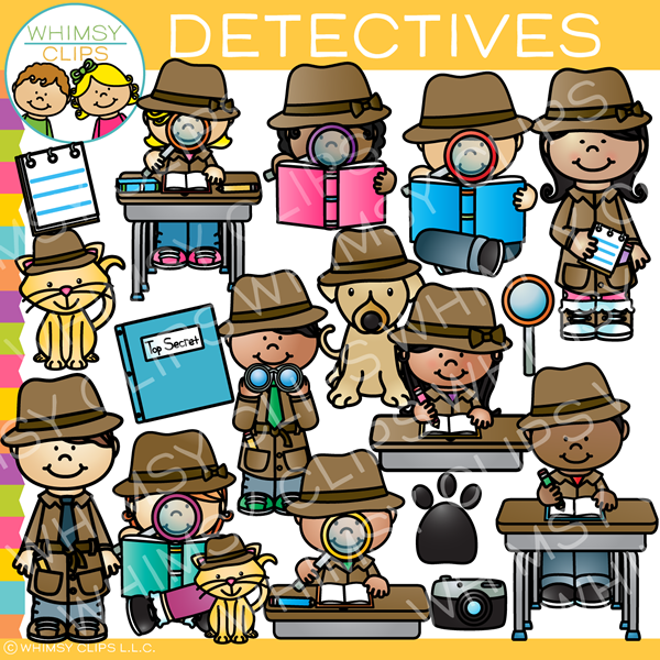 Kid detective clipart black and white download Detective Kids Clip Art black and white download
