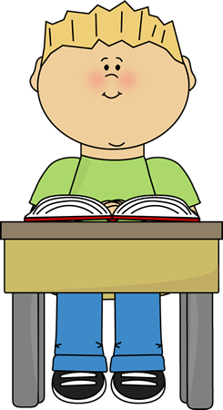 Kid doing school work at table clipart graphic library download School Kids Clip Art - School Kids Images - Vector Clip Art graphic library download