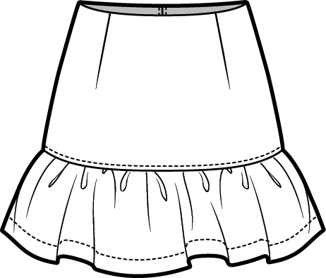Kid dress and skirt clipart black and white banner stock Skirt Clipart | Free download best Skirt Clipart on ClipArtMag.com banner stock
