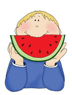Kid eating a watermelon clipart black and white picture free Cliparts Eat Watermelon - Cliparts Zone picture free