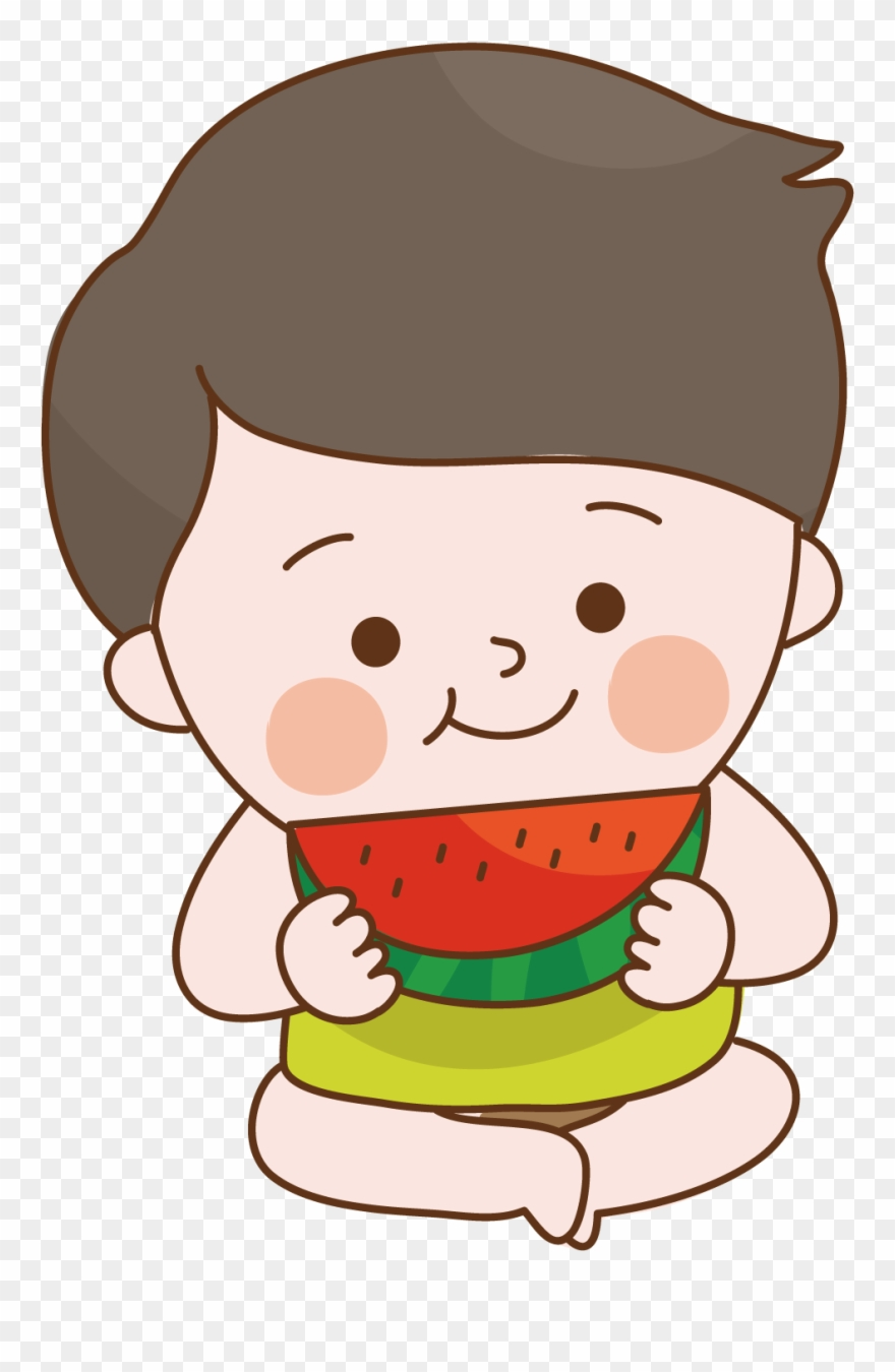 Kid eating a watermelon clipart black and white banner library library Child Food Sitting To Eat Watermelon Clipart (#3171952) - PinClipart banner library library