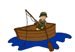 Kid in canoe clipart clipart library download Clip art images of kids fishing for making teaching resources ... clipart library download