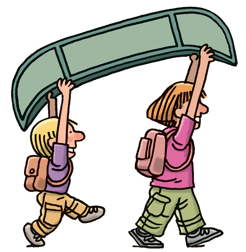 Kid in canoe clipart image transparent stock Kids-with-Canoe - Auke Bay Bible Church image transparent stock