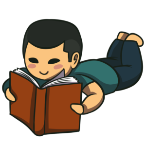 Kid lying down reading clipart banner royalty free download 1000+ Free Book Clipart Images You Can Download Right Now banner royalty free download