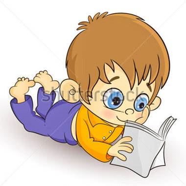 Kid lying down reading clipart clipart royalty free library Gallery For Cartoon Kid Laying Down - Free Clipart clipart royalty free library
