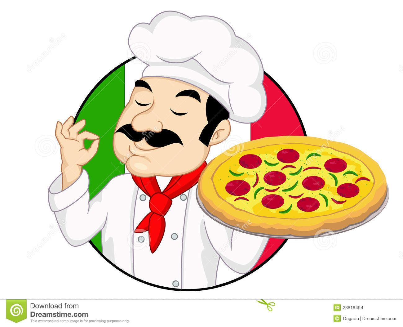 Kid making pizza clipart jpg download mr chef images | Illustration Of Chef with pizza. | images to paint ... jpg download