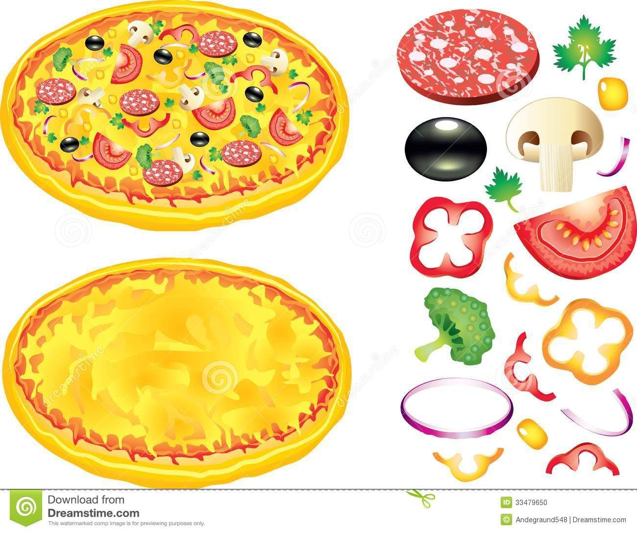 Kid making pizza clipart vector royalty free library Pizza Toppings Clip Art Free | Printables | Pizza, Pizza art ... vector royalty free library