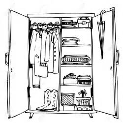 Kid opening closet clipart black and white svg free stock Open Closet Cliparts - Making-The-Web.com svg free stock