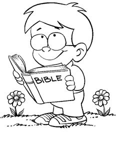 Kid reading abible clipart black and white png free 166 Best big truths for little kids images in 2018 | Sunday school ... png free