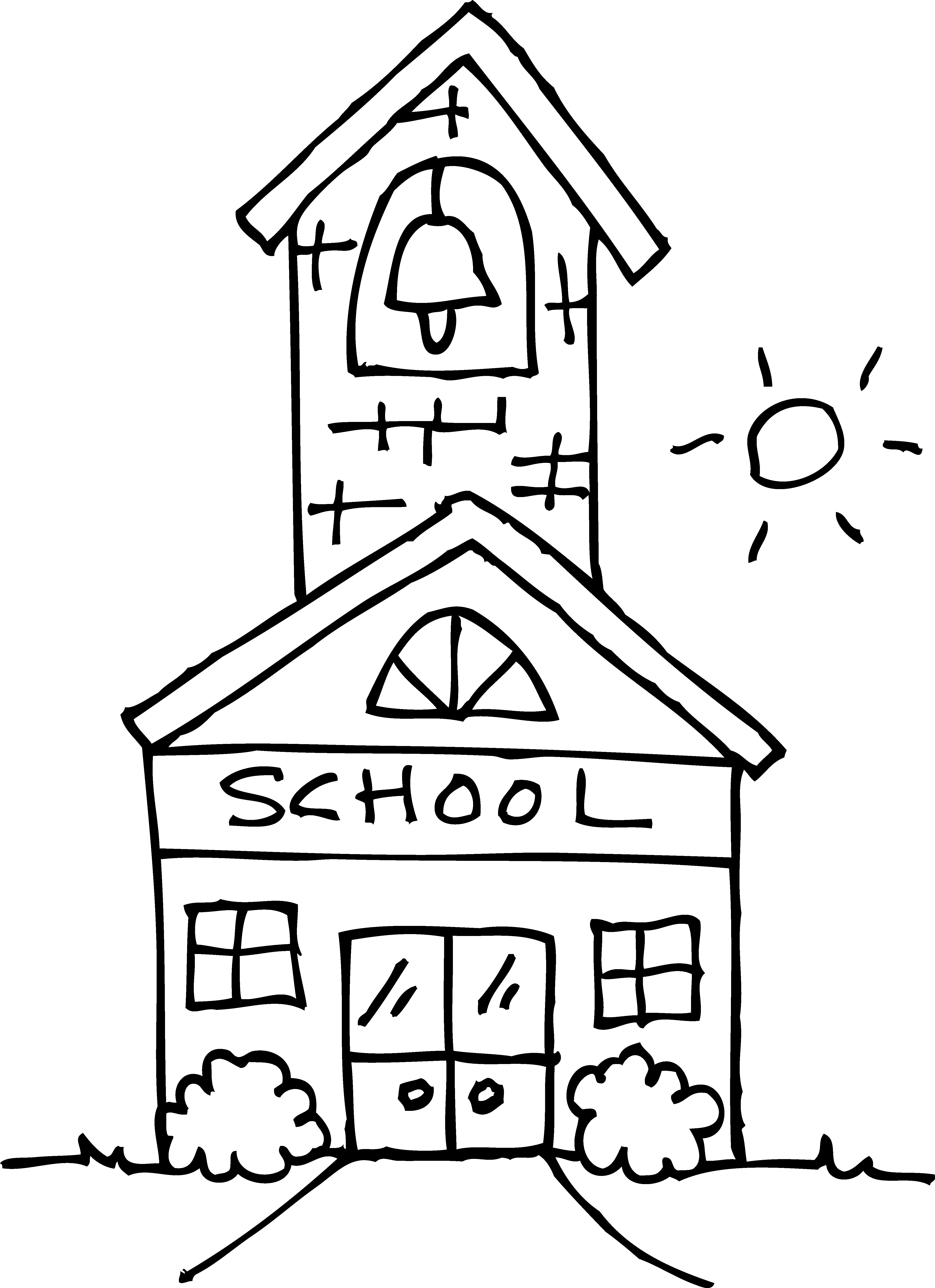 Kid school house clipart black and white png transparent download Free Pictures Of School House, Download Free Clip Art, Free Clip Art ... png transparent download