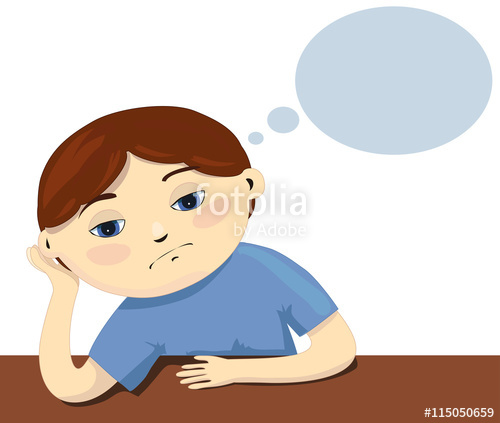 Kid sitting at table clipart white background graphic black and white download A vector illustration sad child sitting by the table on white ... graphic black and white download