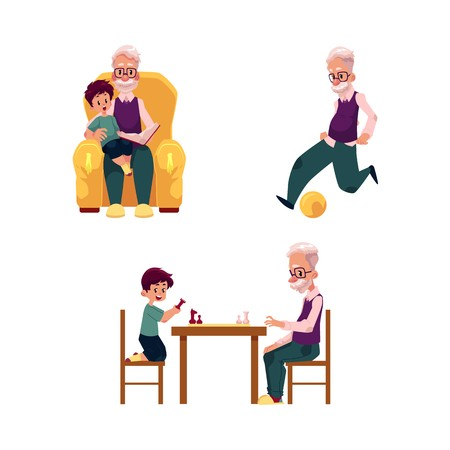 Kid sitting at table clipart white background picture black and white library vector flat grandparents ,children set. grandson and grandfather ... picture black and white library