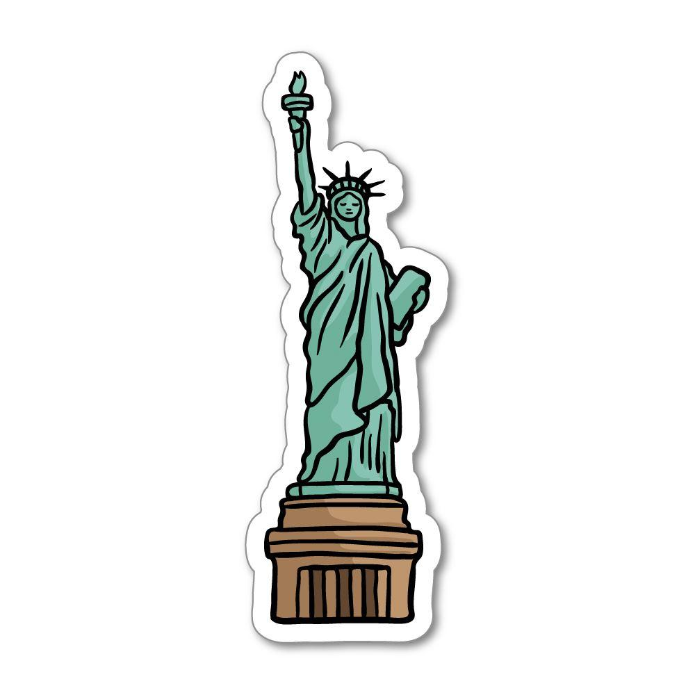 Kid sleeping on statue of liberty clipart clipart royalty free download Statue Of Liberty Sticker Decal clipart royalty free download