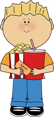 Kid snack clipart image library download Kid with Movie Snacks | stickers | Movie clipart, Art, Movies image library download