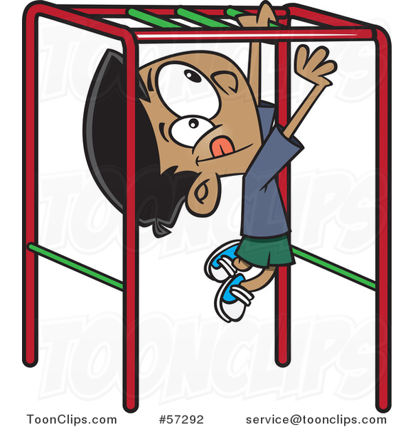 Kid upside down on monkey bars clipart transparent stock Upside-down Girl On Monkey Bars - Csp0473166 - 470*299 ... transparent stock