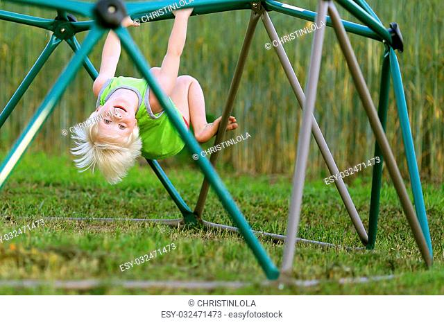 Kid upside down on monkey bars clipart banner black and white download Hanging upside down monkey bars Stock Photos and Images ... banner black and white download