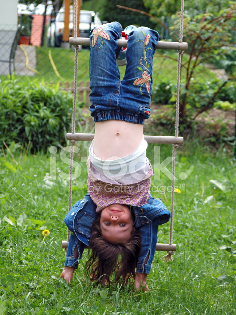 Kid upside down on monkey bars clipart clipart stock Girl DO The Monkey Style Stock Photos - FreeImages.com clipart stock