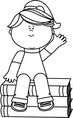 Kid waving bye black and white clipart banner freeuse download Girl waving goodbye clipart - Clip Art Library banner freeuse download